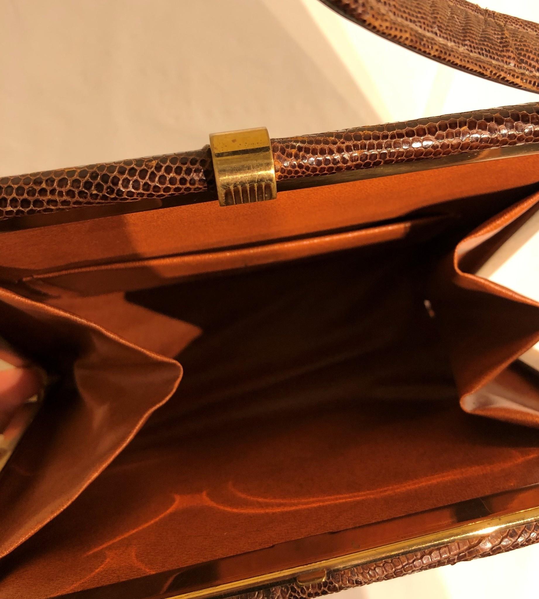 Brown Lizard Handbag (Sterling label)