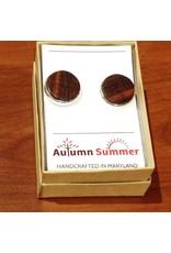 Autumn Summer Cufflinks, Ebony Wood
