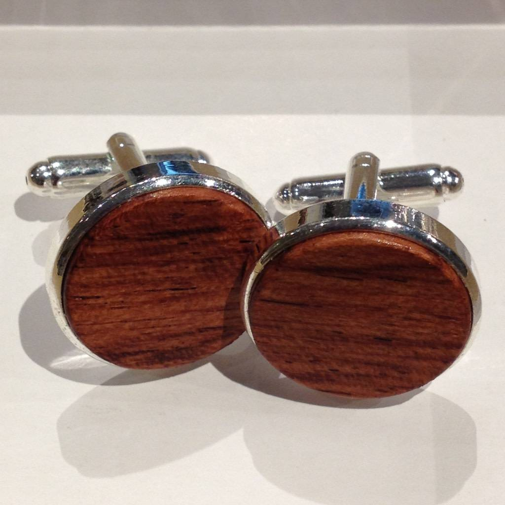 Autumn Summer Cufflinks, Mahogany Wood