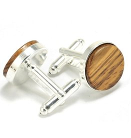 Autumn Summer Cufflinks, Zebra Wood