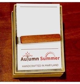 Autumn Summer Tie Clip, Mahogany Wood