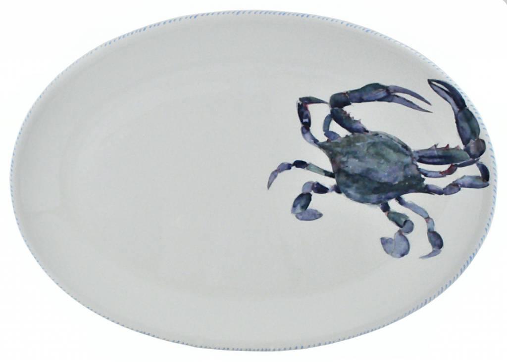 Abbiamo Tutto Blue Crab Oval Platter