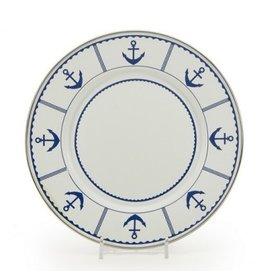 Eden Roc Sandwich Plate, Blue Anchor