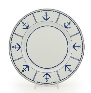 Eden Roc Sandwich Plate, Blue Anchor