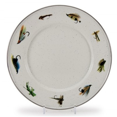 Golden Rabbit Fishing Fly Sandwich Plate