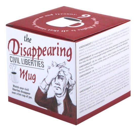 Unemployed Philosophers Guild The Disappearing Civil Liberties Mug