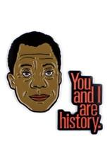 Unemployed Philosophers Guild James Baldwin and History Enamel Pin Set - 2 Unique Colored Metal Lapel Pins