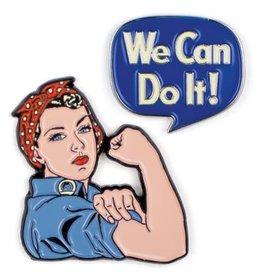 Rosie the Riveter Enamel Pin, Set of 2
