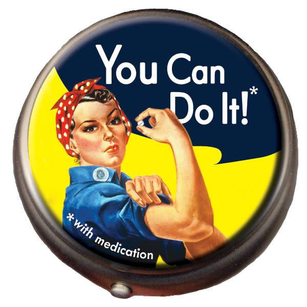 Unemployed Philosophers Guild Rosie the Riveter Pill Box