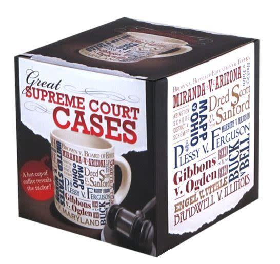 Unemployed Philosophers Guild Great Supreme Court Cases Mug
