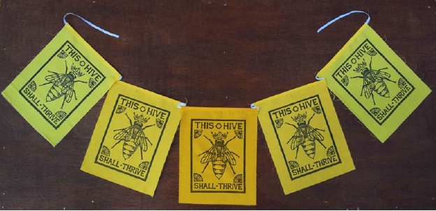 Flag Banner - Bees