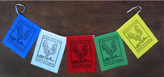 Flag Banner - Roosters