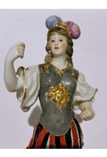 Porcelain Figurine, Woman in Armor and Helmet