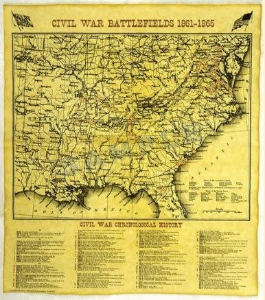 Historic Document - Civil War Battlefields Map
