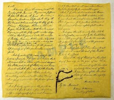 Historic Document - Emancipation Proclamation