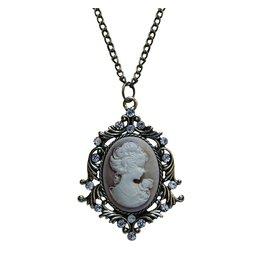 Madison Bay Company Cameo Necklace, Bronze