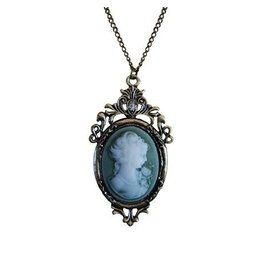 Cameo Necklace, Green