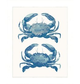 16x20 Watercolor Animals Print, Blue Crabs, Matte