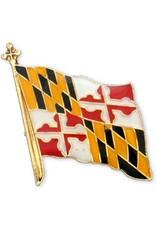Lapel Pin - Brass Enamel Maryland Flag