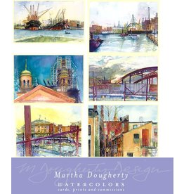 Set of 12 Small Note Cards - Urban Colors