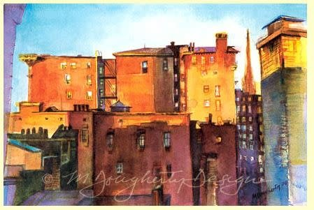 Note cards- Historic Mt V. Square, Sm, Set of 12