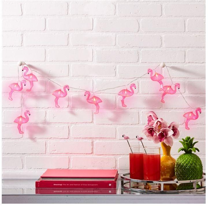 String Lights- LED Pink Flamingo