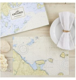 48 Pc Nautical Map Placemat Book