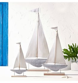 Sailboat Sculpture on Stand, Large