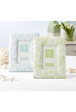 Lace Flower Photo Frame - Light Green