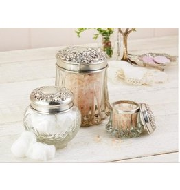 Vintage-Inspired Vanity Jar - Large