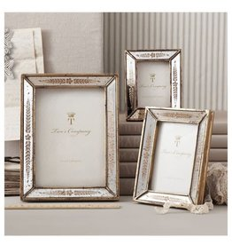 Gold Leaf Mirror Photo Frame, 5x7