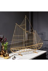 Golden Schooner Sculpture