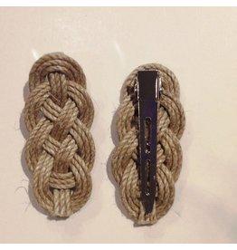Rope Barrette/Tie Clip, Medium
