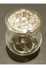 Glass Condiment Jar with Stieff Sterling Silver Lid