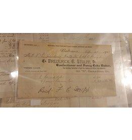 1908 Receipt, Frederick C. Stolpp
