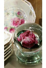 Millville Glass Rose Doorstop, Lg