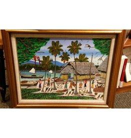 Framed- L. Mendez 1992 painting