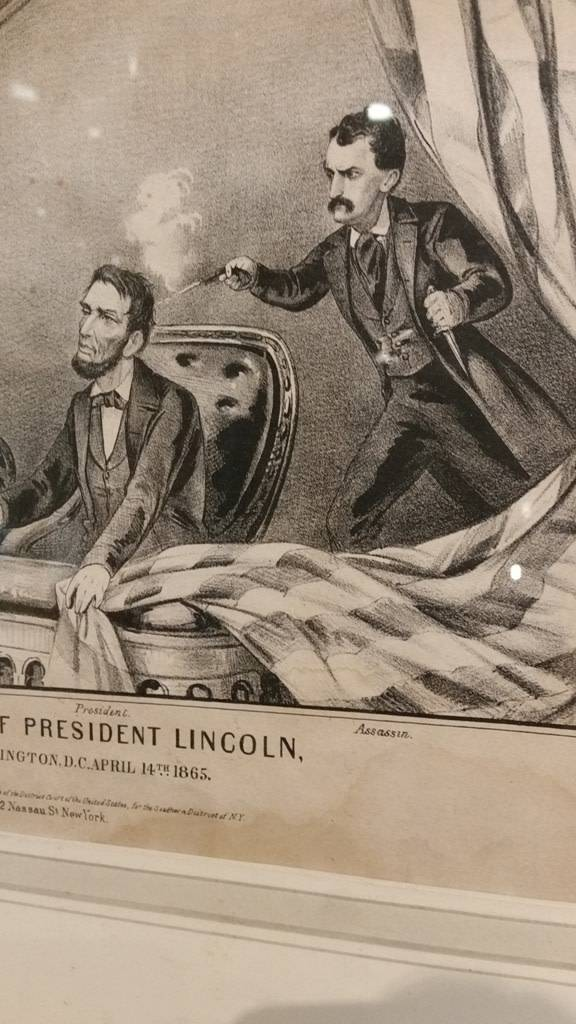 """Framed Print - """"The Assassination of President Lincoln"""" by Currier & Ives"""