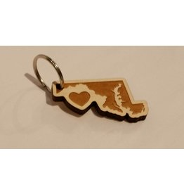 home. MD Wooden Key chain