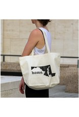 Home State Apparel home. Canvas Tote Bag, Maryland