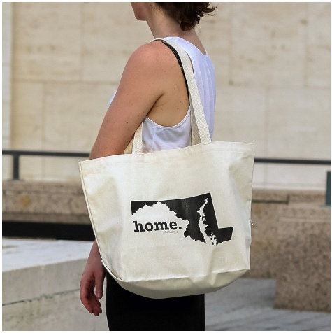 home. Canvas Tote Bag, Maryland