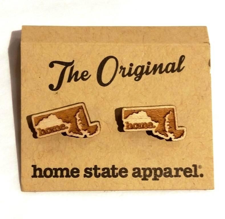 State Shape Post Earrings