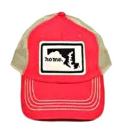 home. Hat, Red/Black