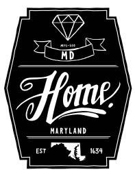 Diamond Pint Glass- Maryland