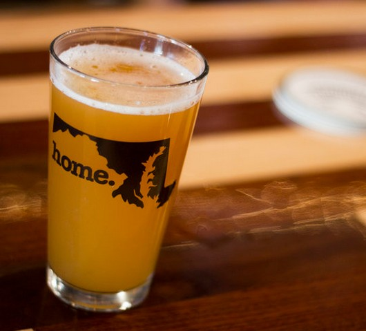 Home State Apparel home. Pint Glass