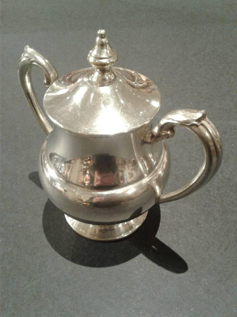 Silver-Plated Copper 4 Piece Tea Set