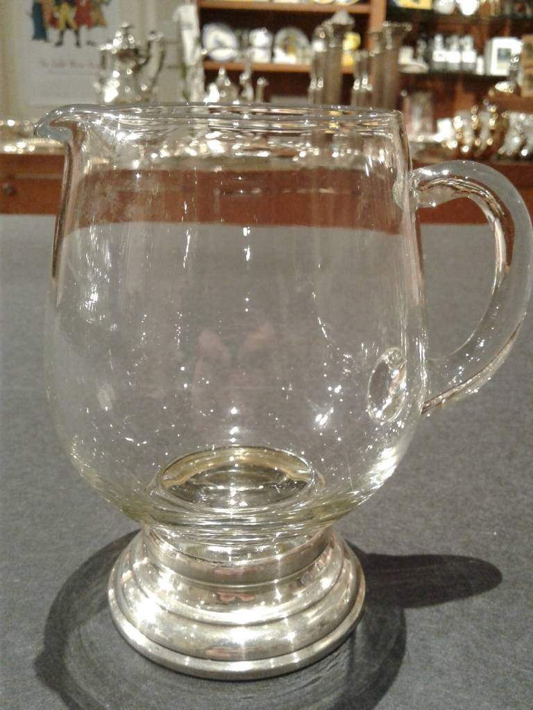 Glass Creamer with Sterling Base