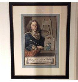Framed Italian Engraving - Francesco Mirel