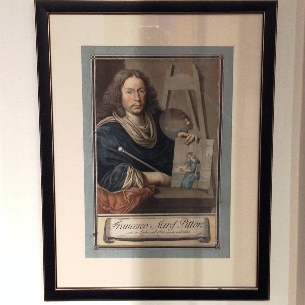 Framed Italian Engraving - Francesco Mirel