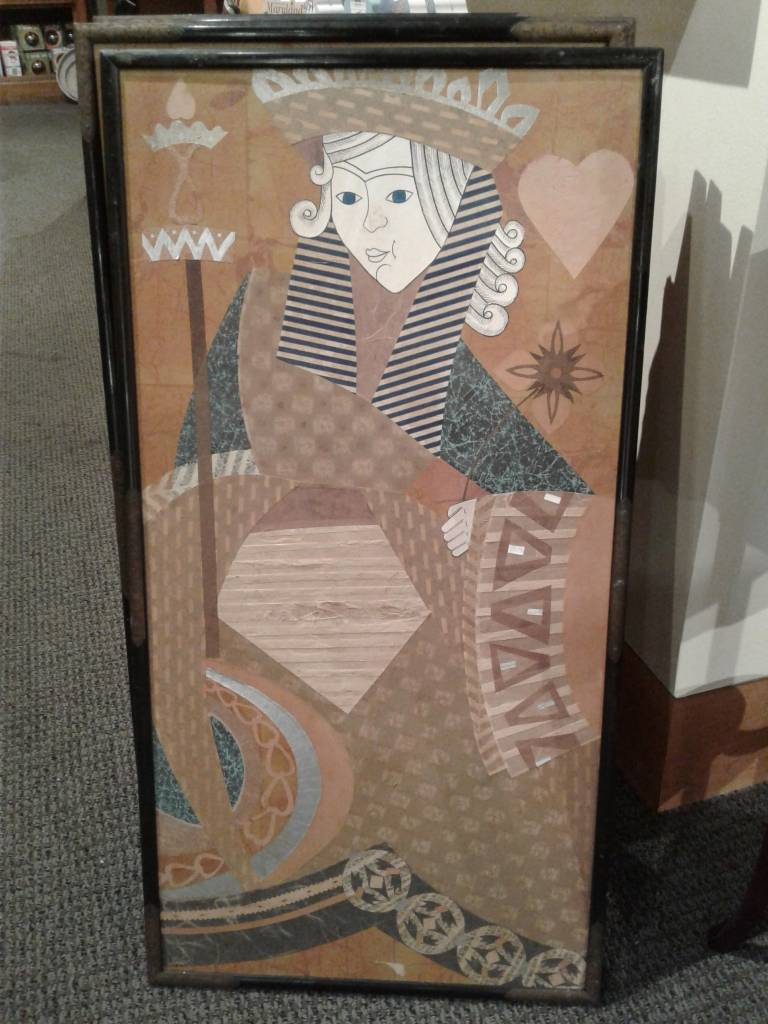 Framed Cut Paper, Card Suits